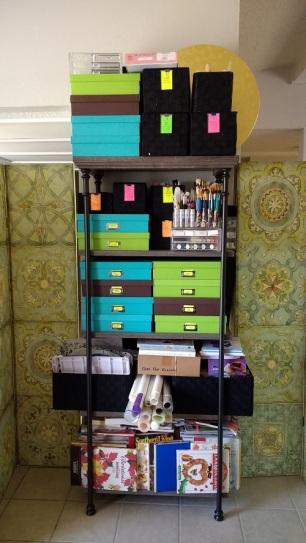 Organized cake and sugar art supplies